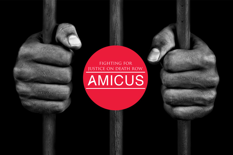 Amicus logo with hands